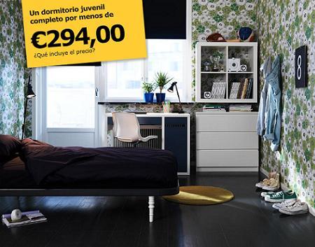 Renueva el dormitorio juvenil decoraci n sueca - Dormitorios baratos ikea ...