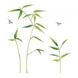 vinilo de plantas y pájaros