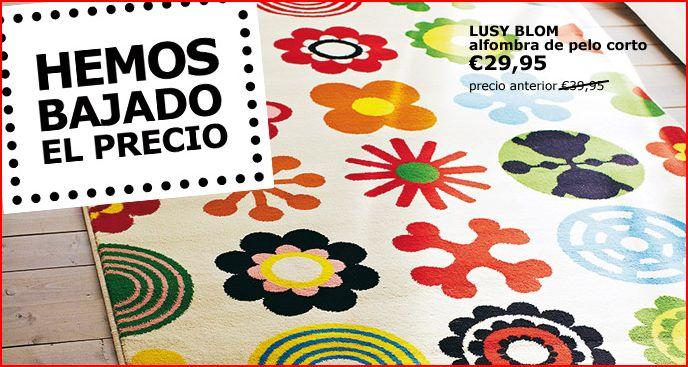 Ikea alfombra lusy blom
