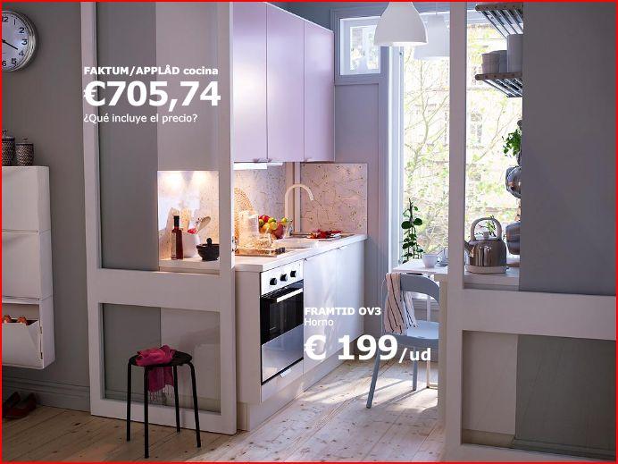 Cocinas peque as coquetas y funcionales decoraci n - Cocina pequena ikea ...