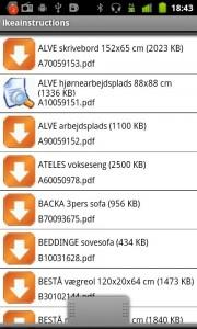 aplicación IKEA para Android