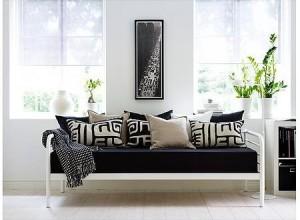 diván de forja blanco