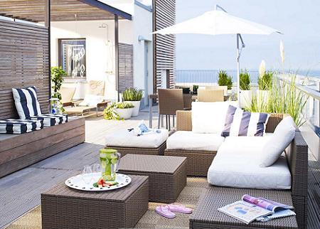Mobiliario de ikea para exteriores decoraci n sueca decoraci n n rdica y decoraci n con - Terrazas chill out ...