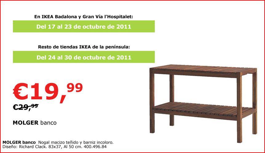 Banco molger en oferta decoraci n sueca decoraci n for Bancos de madera ikea