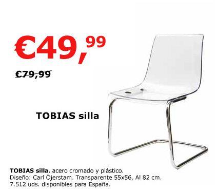 Silla tobias en oferta decoraci n sueca decoraci n - Sillas de ikea ofertas ...