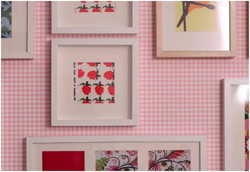 Cuadros originales con tejidos de ikea decoraci n sueca for Marcos originales para cuadros