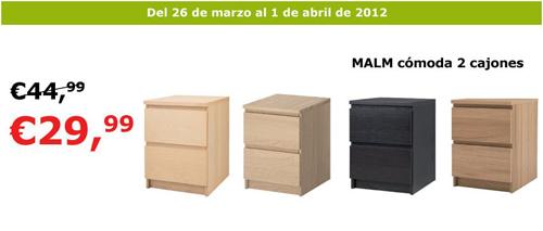Mesita De Noche Ikea Malm.Oferta Comoda Malm De 2 Cajones Decoracion Sueca