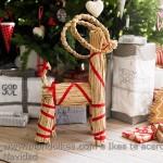 Adorno Navidad Ikea reno de paja