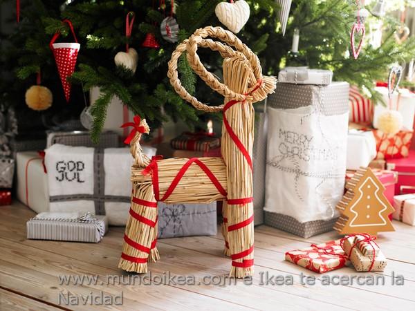 Adorno Navidad Ikea reno de paja - salón para Navidad