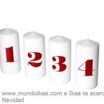 Adorno Navidad Ikea velas números