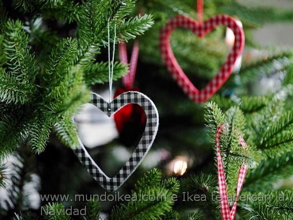 Adorno navidad corazón Ikea