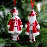Adorno navidad papa y mama Noel