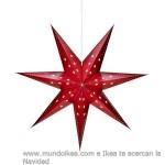 Adorno navideño estrella Ikea roja