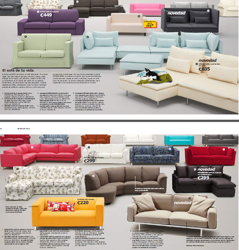Ikea tendencias sof s 2013 decoraci n sueca for Catalogos de sofas y precios