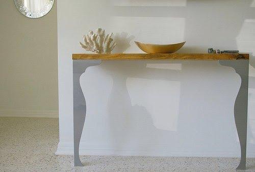 Consola hecha con patas fintorp decoraci n sueca for Patas para muebles ikea