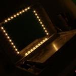 foto nocturna del tocador