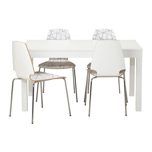 Conjunto mesa y cuatro silla serie BJURSTA/ VILMAR - Decoración ...