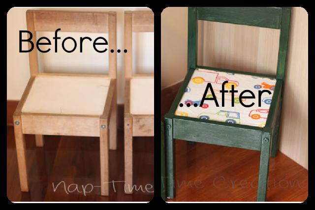 Silla para niños Ikea renovada