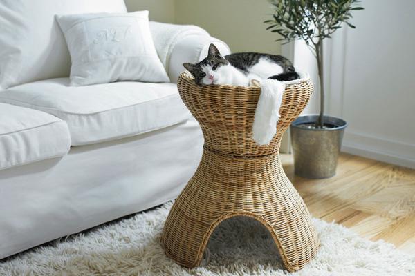enchufe Sociedad responsabilidad  Estructura doble función para gatos de Ikea