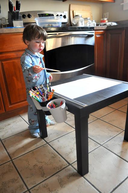 Idea para renovar mesa lack - Mesa dibujo ikea ...