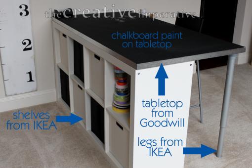 Maxi escritorio hecho con muebles de ikea - Tablero escritorio ...