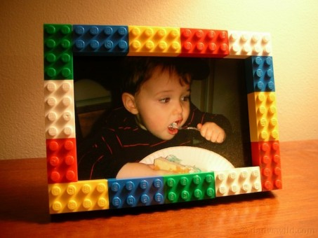 Decorar Marcos De Madera Con Piezas De Lego