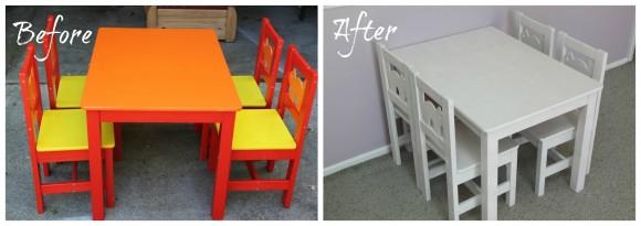 Ikea Conjunto De Mesa Y Sillas.Idea Para Pintar Una Mesa Y Sillas De Ikea