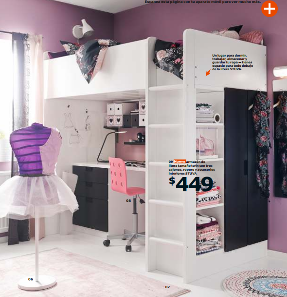Ikea te ayuda a ahorrar espacio en el dormitorio de tus hijos - Habitacion con literas para ninos ...