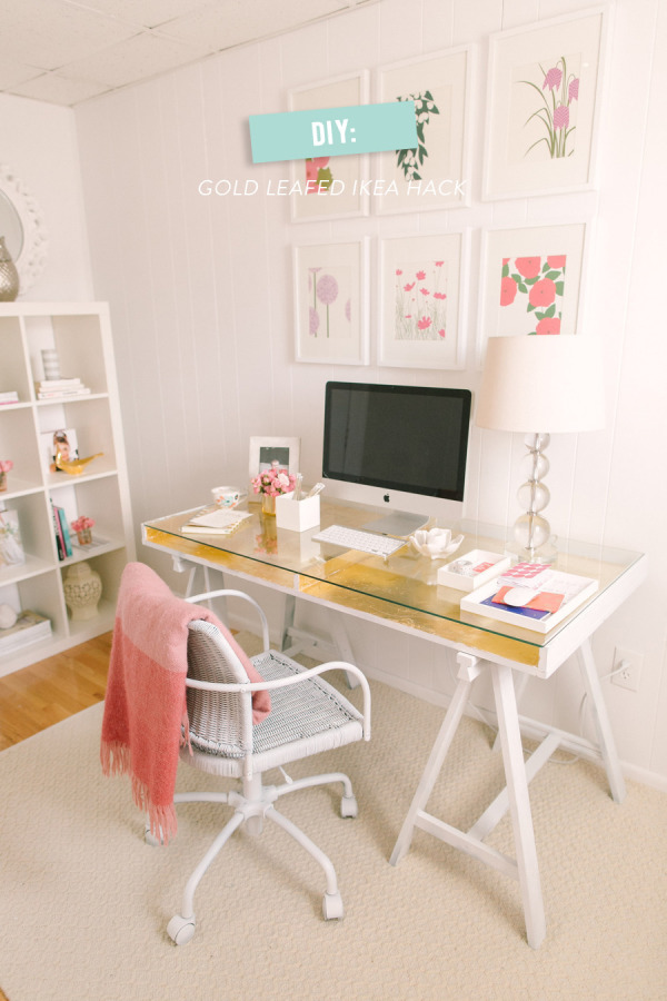 Escritorio hecho con piezas de ikea - Mesa escritorio cristal ikea ...