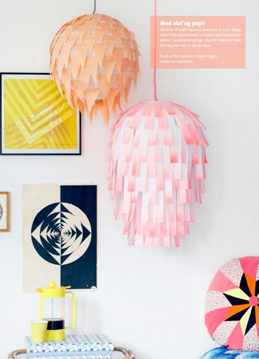 lampara de papel renovada