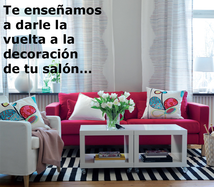 salon decorado con muebles de ikea