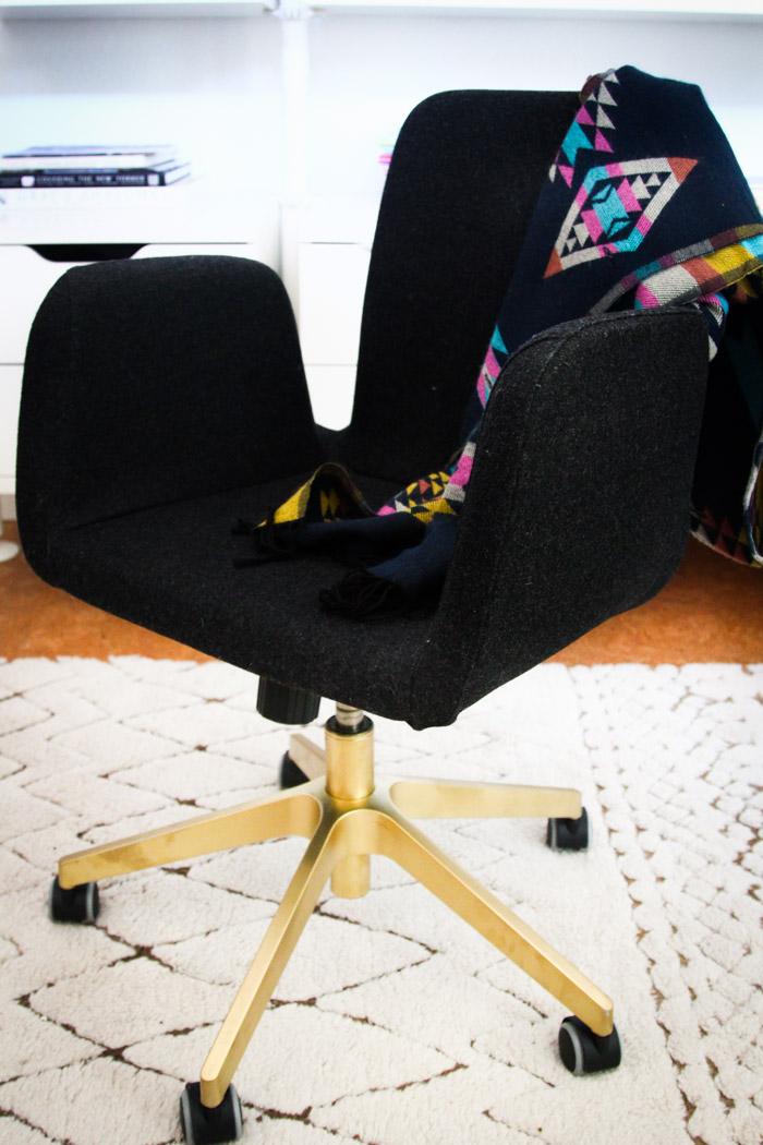 silla de oficina renovada