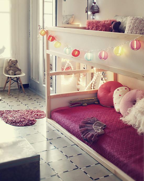 6 formas de decoraci n infantil para la litera ikea kura for Kura bed decoration ideas