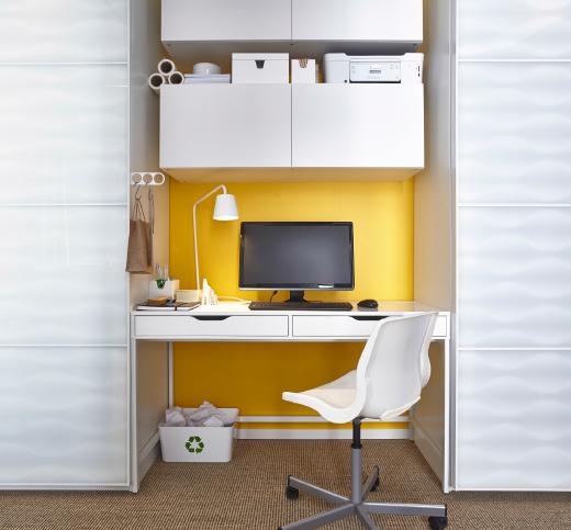 C mo crear una zona de trabajo con alex el escritorio - Espacios de trabajo ikea ...