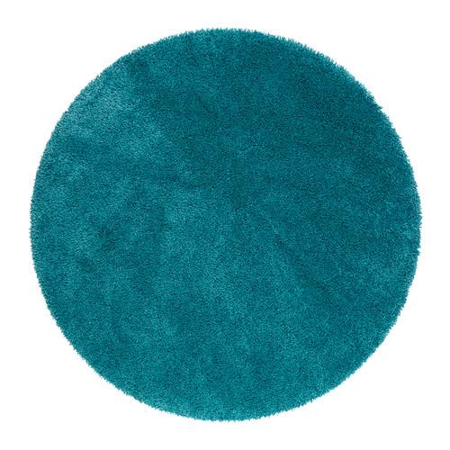 Alfombras redondas para decorar con colorido - Alfombra redonda pelo largo ...