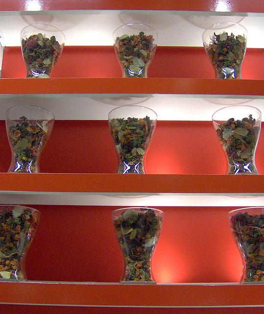 decorar con vasos