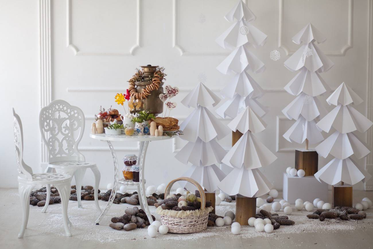 DECORACIÓN - arboles de navidad de papel