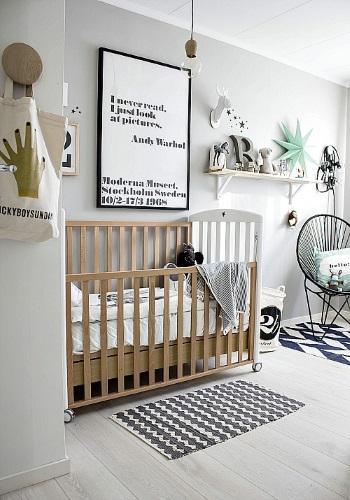 dormitorio nórdico para bebé