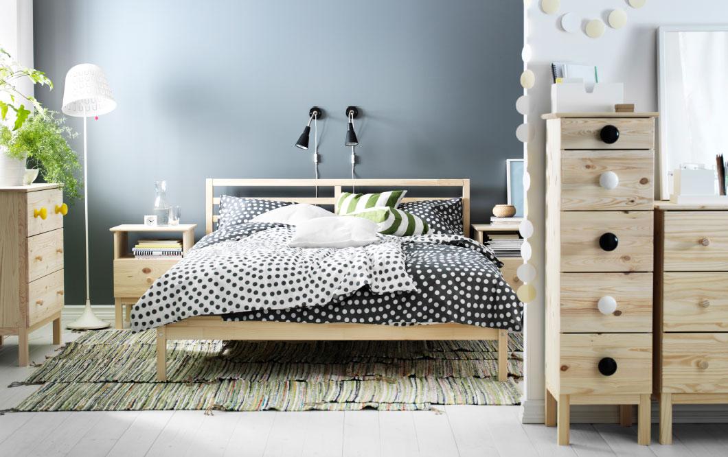 habitación en blanco y negro de iKEA