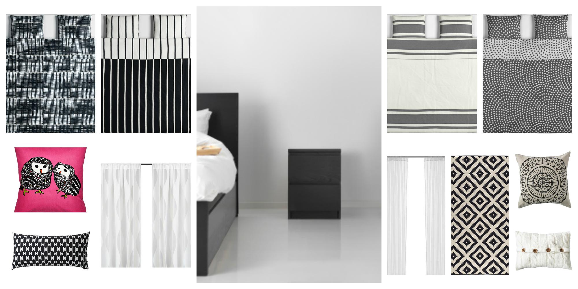 habitación malm IKEA blanco y negro