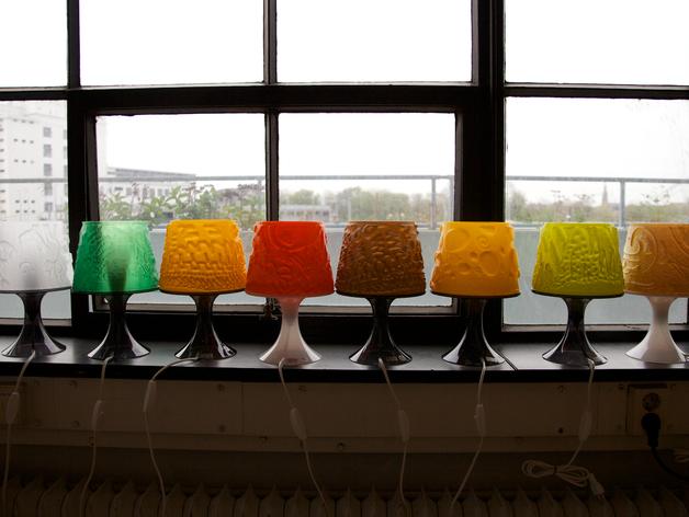 mampara de lámpara ikea imprimible 3D