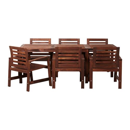 mesa silla comedor exterior