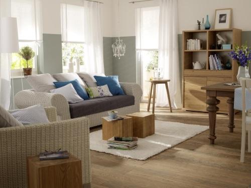 salón con decoración sueca