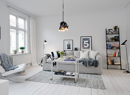 salones con decoración nórdica