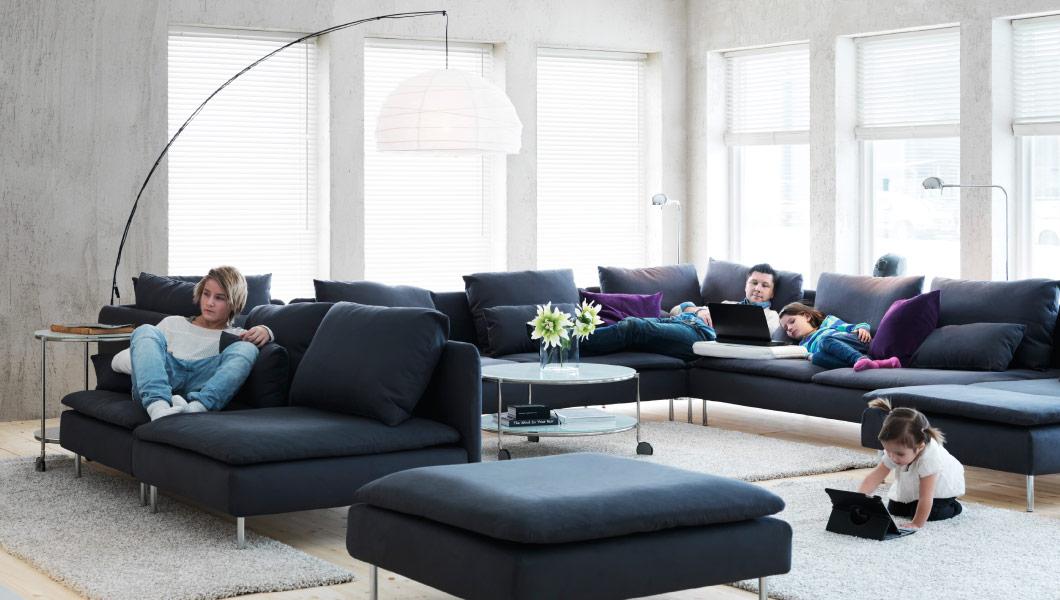 salon con modulos sofa