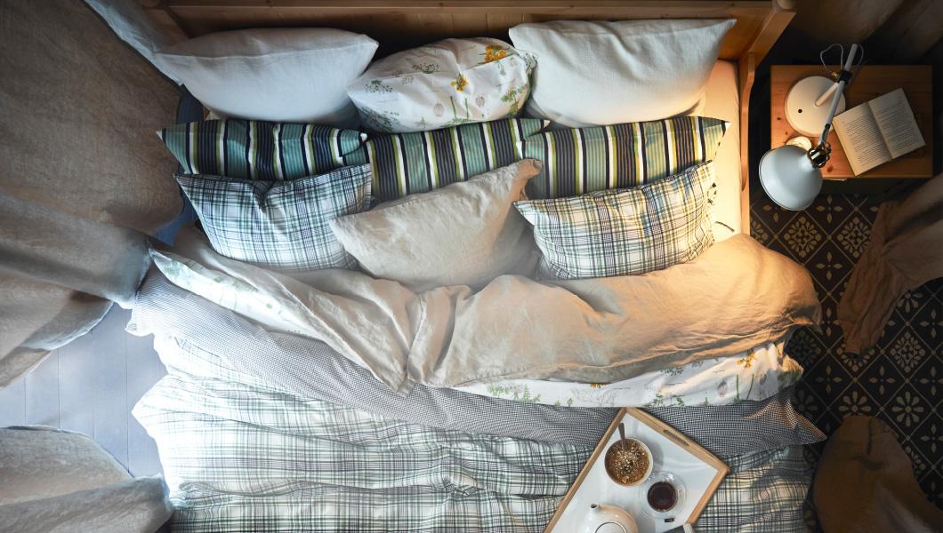 textiles ikea cama