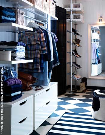 vestidor en azul