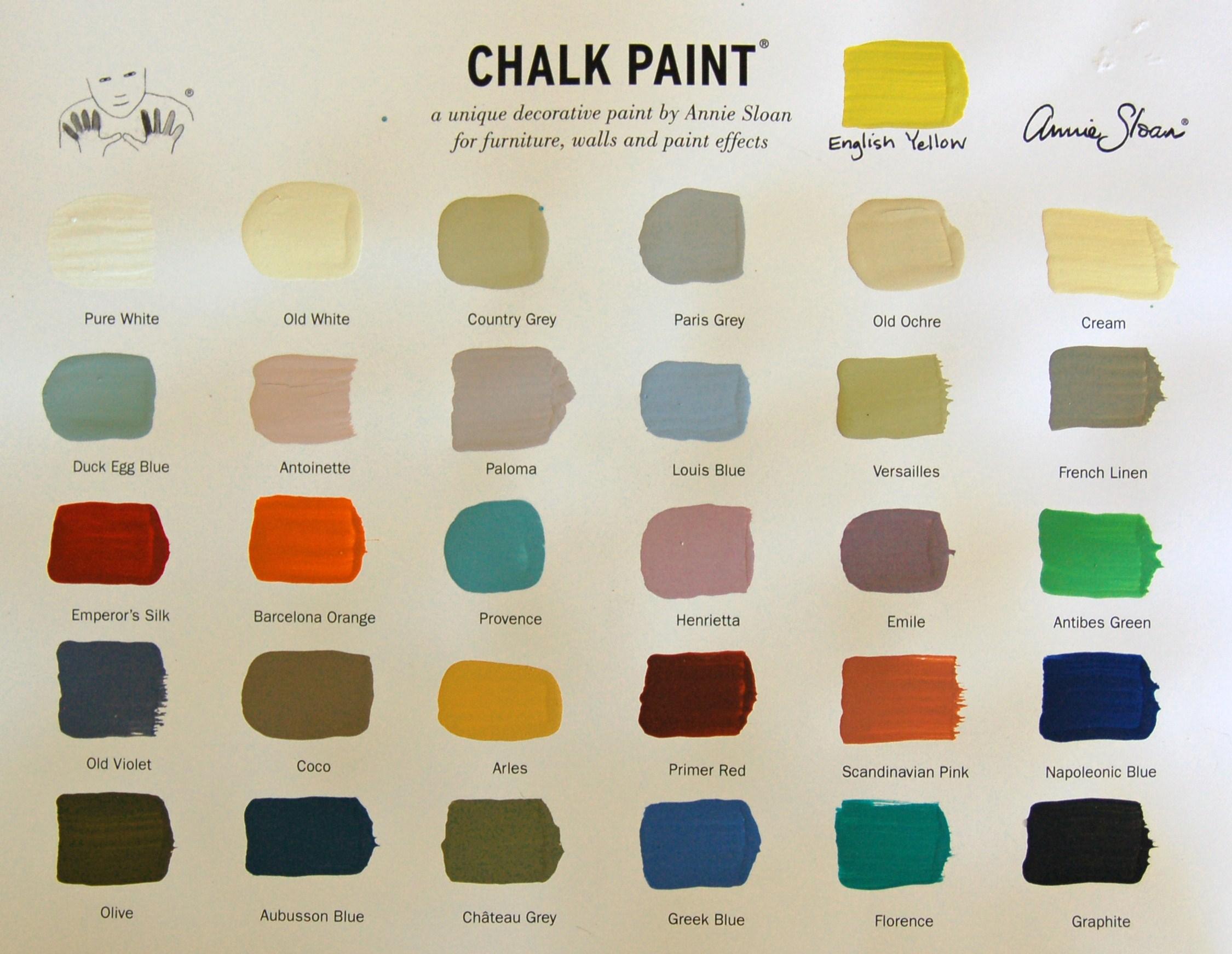 paleta de colores pintura tiza