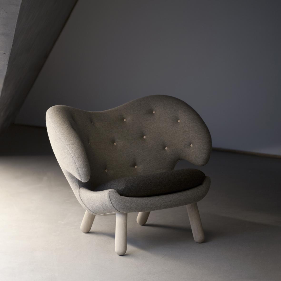 silla de diseño danes en color gris