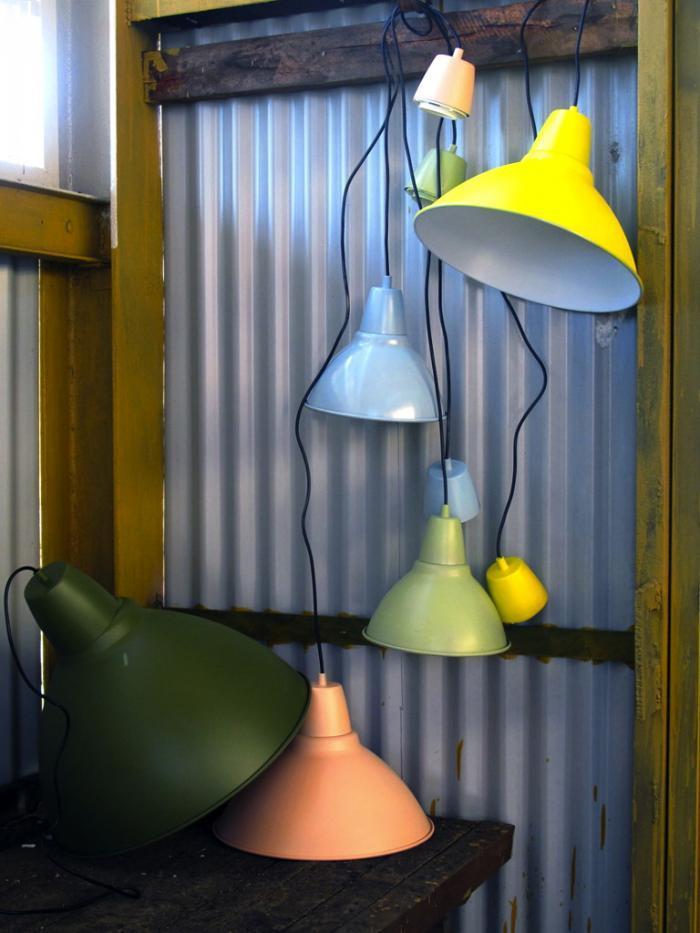 lamparas pintadas